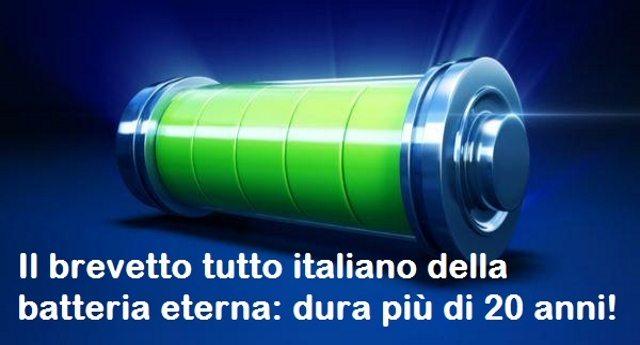 Il brevetto tutto italiano della batteria eterna: dura più di 20 anni!