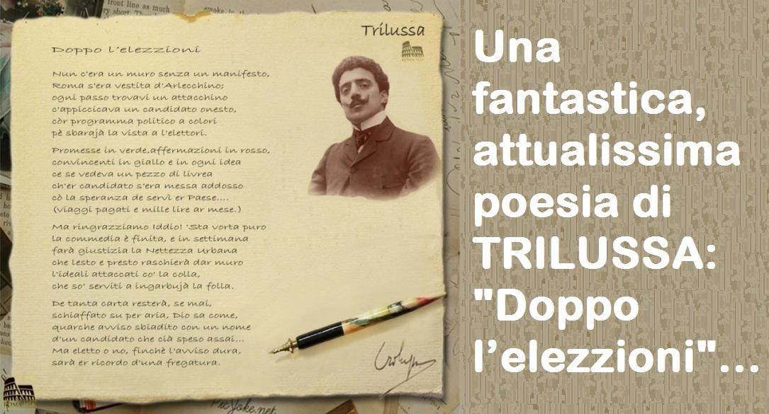 Una fantastica attualissima poesia di TRILUSSA – Doppo l'elezzioni…