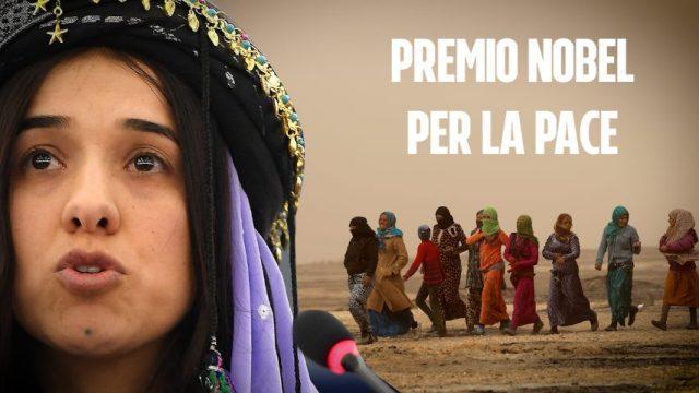 """Il Premio Nobel per la Pace 2018 NADIA MURAD: """"Il mondo ha un solo confine, quello dell'umanità""""…!"""