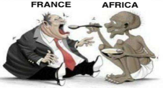 """Quello che i politici non dicono sull'immigrazione – La Francia continua a mantenere un ferreo controllo delle """"ex"""" colonie. In cambio dell'indipendenza generosamente concessa, ha preteso lo sfruttamento delle loro risorse, pagandole 4 soldi e impedendo la trasformazione locale per ostacolare il loro sviluppo…"""