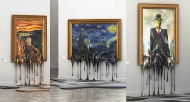 I capolavori che si stanno sciogliendo. La mostra beffarda di un geniale artista Austriaco che dovrebbe farci riflettere… E vediamo se così lo capiamo…!