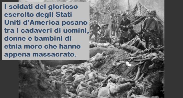 Non solo i Pellerossa – Un altro genocidio degli americani di cui nessuno sa niente, quello dell'etnia Moro, culminato con il massacro di Bud Dajo…
