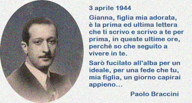 3 aprile 1944 – L'ultima lettera del professore partigiano: figlia adorata, sarò fucilato all'alba per un ideale…