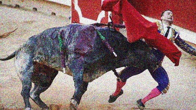 Le belle notizie che piace darvi: Pamplona, corrida finale, stavolta vince il toro! Brutta lezione al grande(?) matador Rafaelillo.